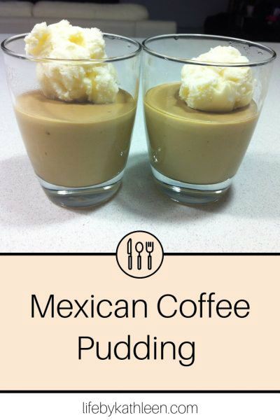 Mexican Coffee Pudding with Kahlua Whipped Cream