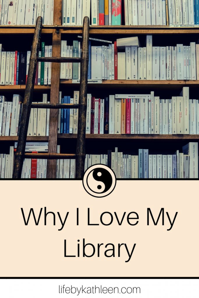 library shelves. why i love my library