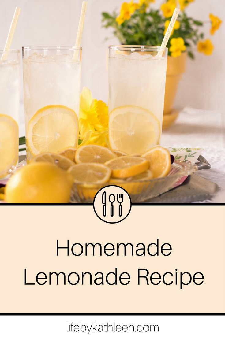 lemonade and lemons text overlay homemade lemonade recipe