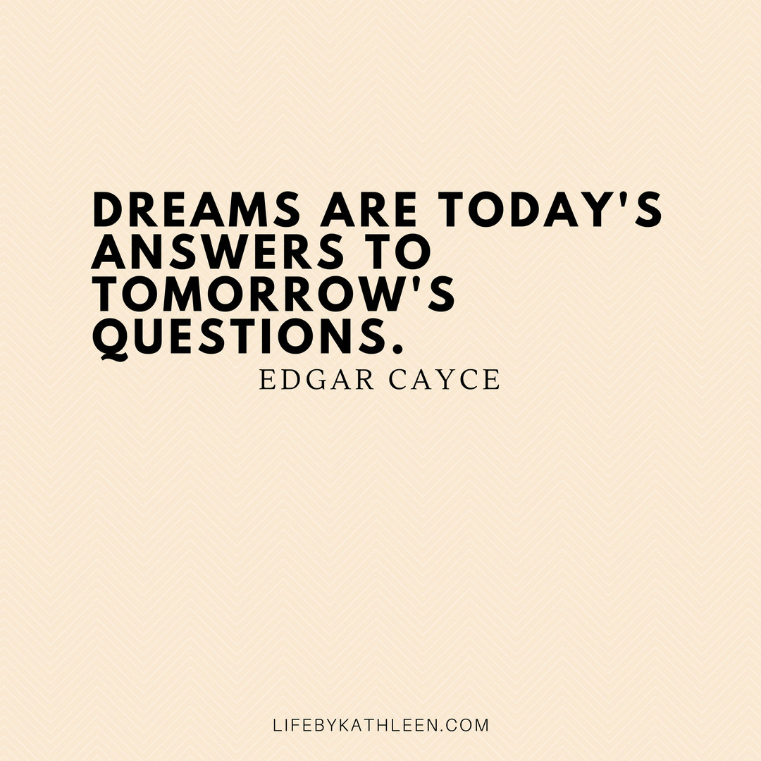 Dreams are today's answers to tomorrow's questions - Edgar Cayce #dreams #adventures #quotes #edgarcayce