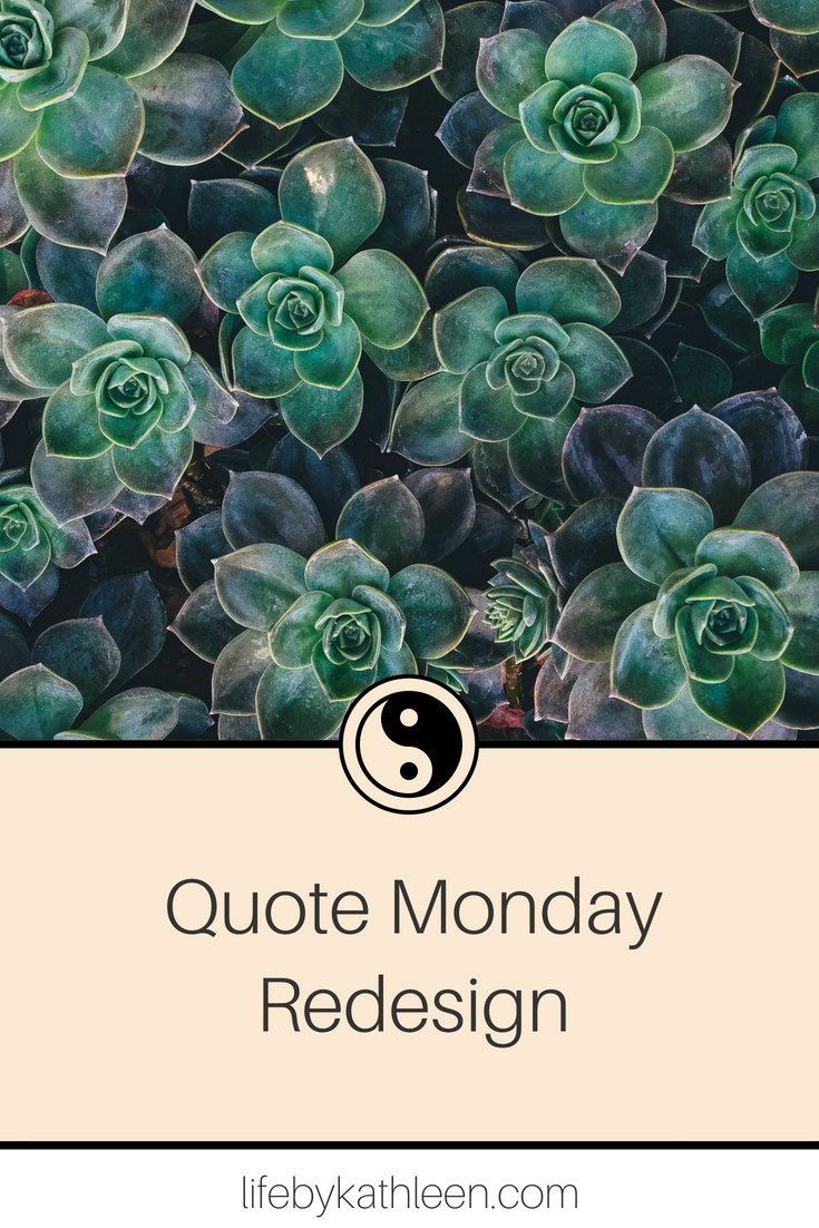 succulents text overlay quote monday redesign