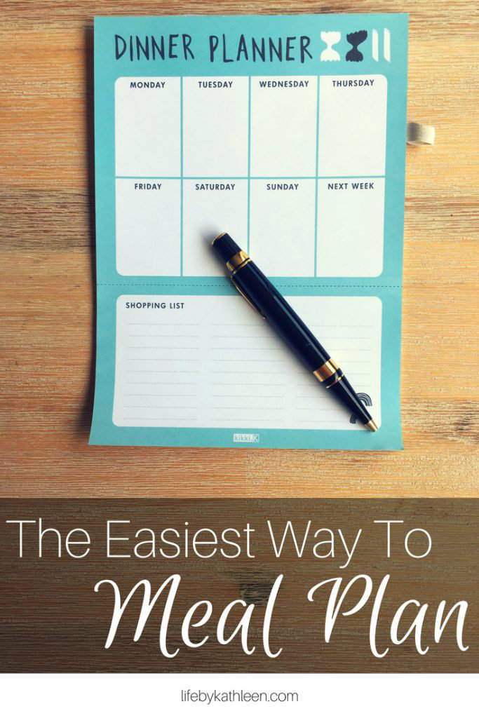 dinner planner calendar text overlay: the easiest way to meal plan