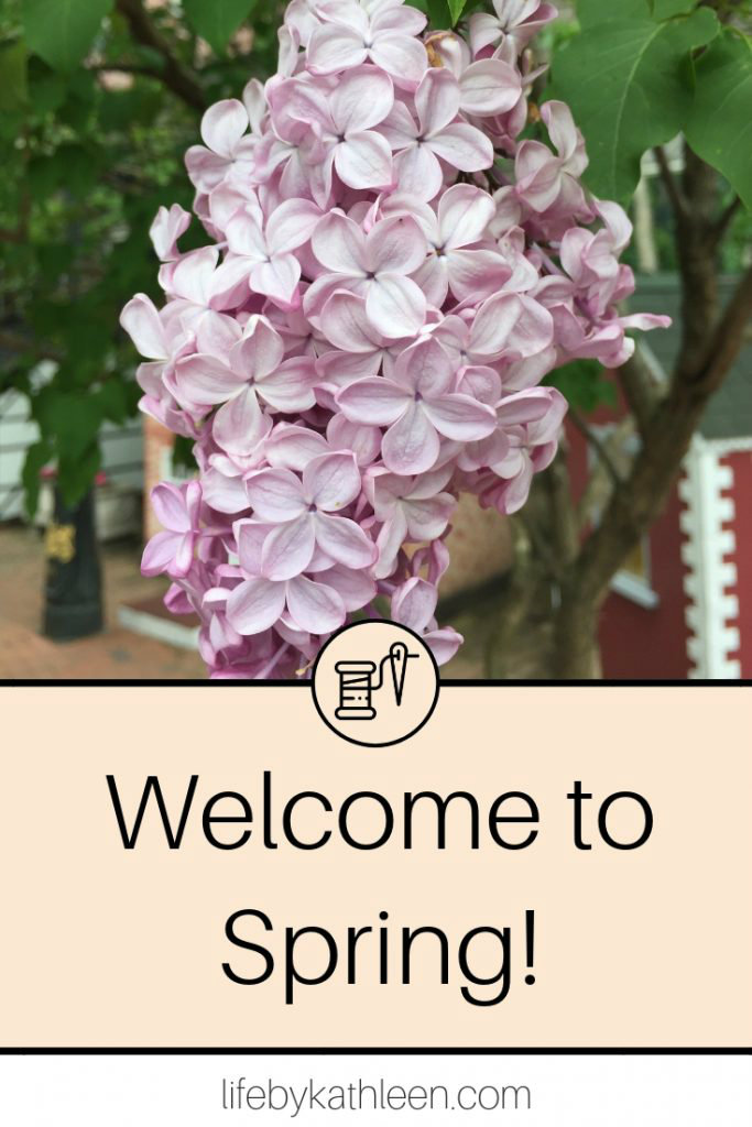 lilacs text overlay Welcome To Spring