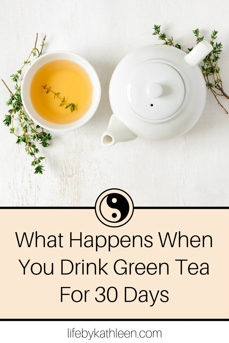 teacup and teapot text overlay What Happens When You Drink Green Tea For 30 Days