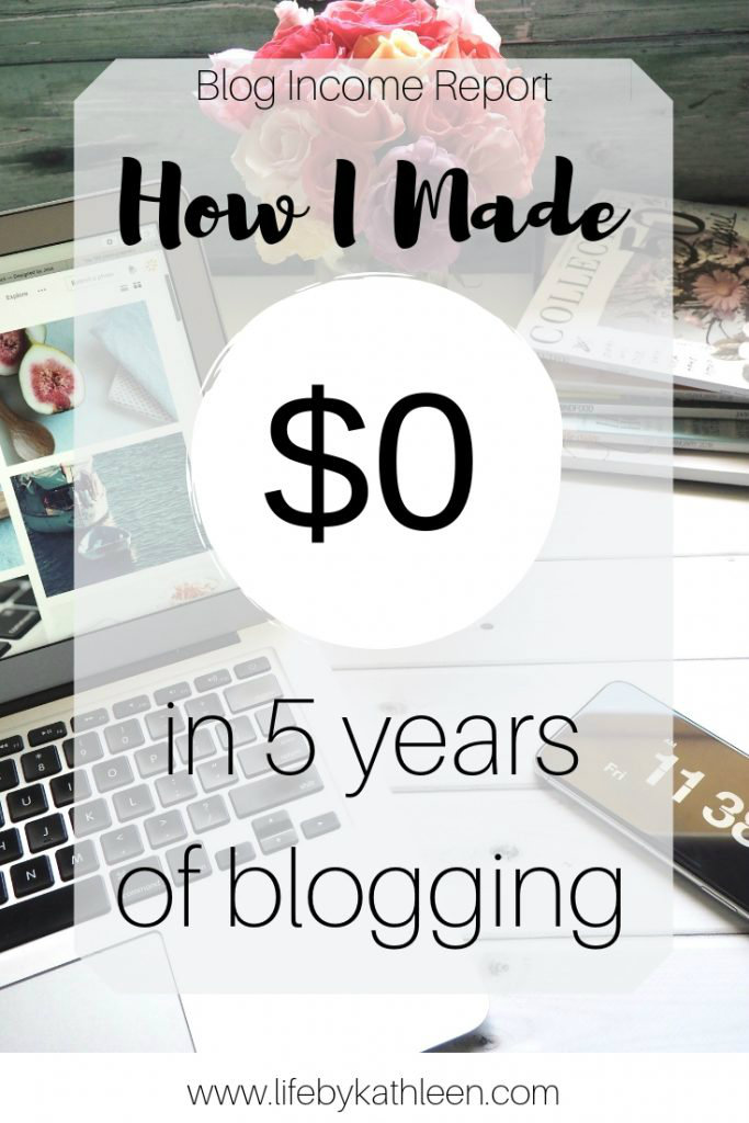How I Made $0 in 5 years of blogging