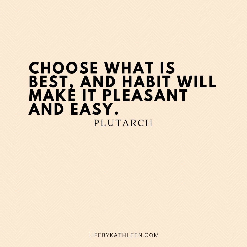 Choose what is best, and habit will make it pleasant and easy - Plutarch