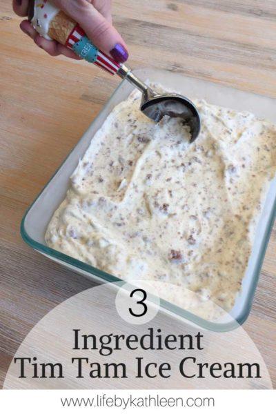 3 Ingredient Tim Tam Ice Cream