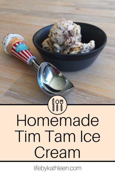Homemade Tim Tam Ice Cream