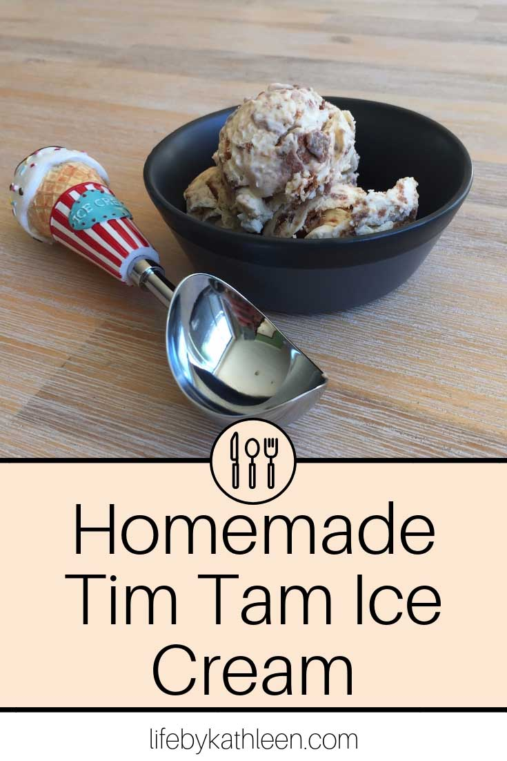 Homemade Tim Tam Ice Cream