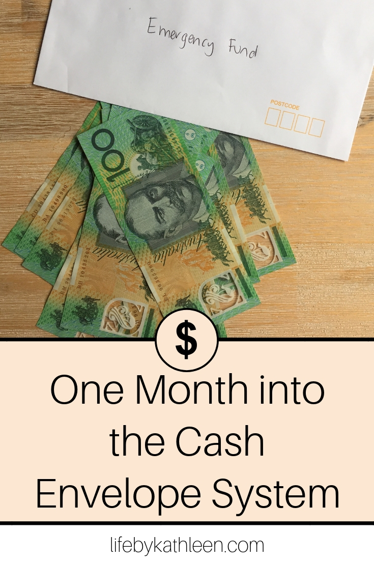 One Month into the Cash Envelope System