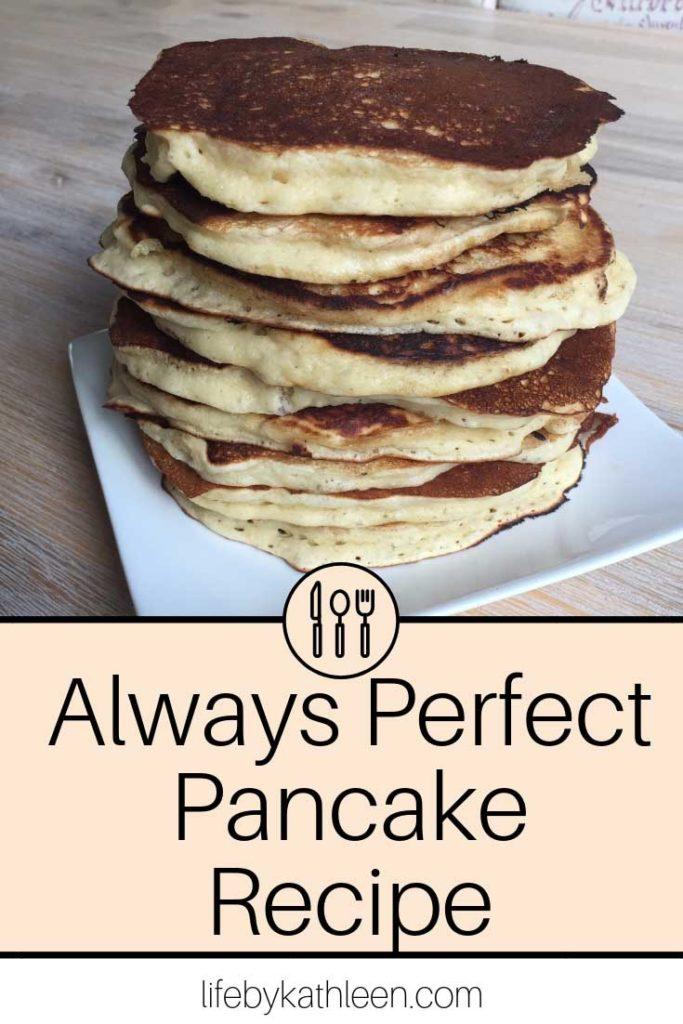 Always perfect pancake recipe