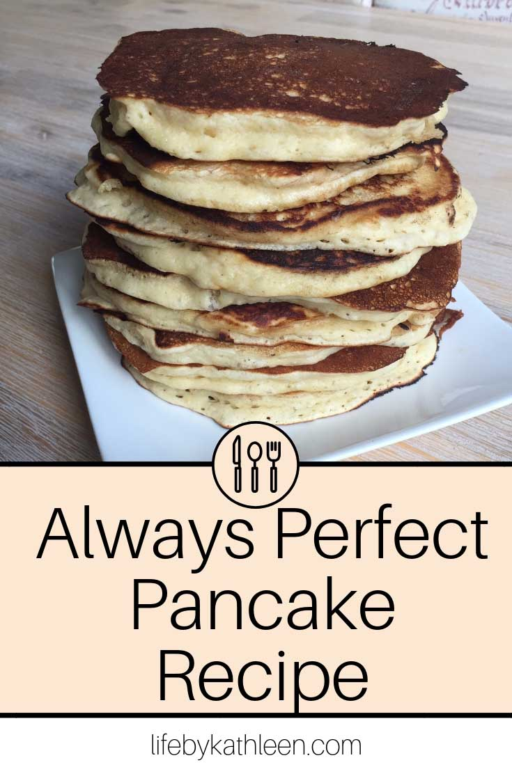 Always perfect pancake recipe