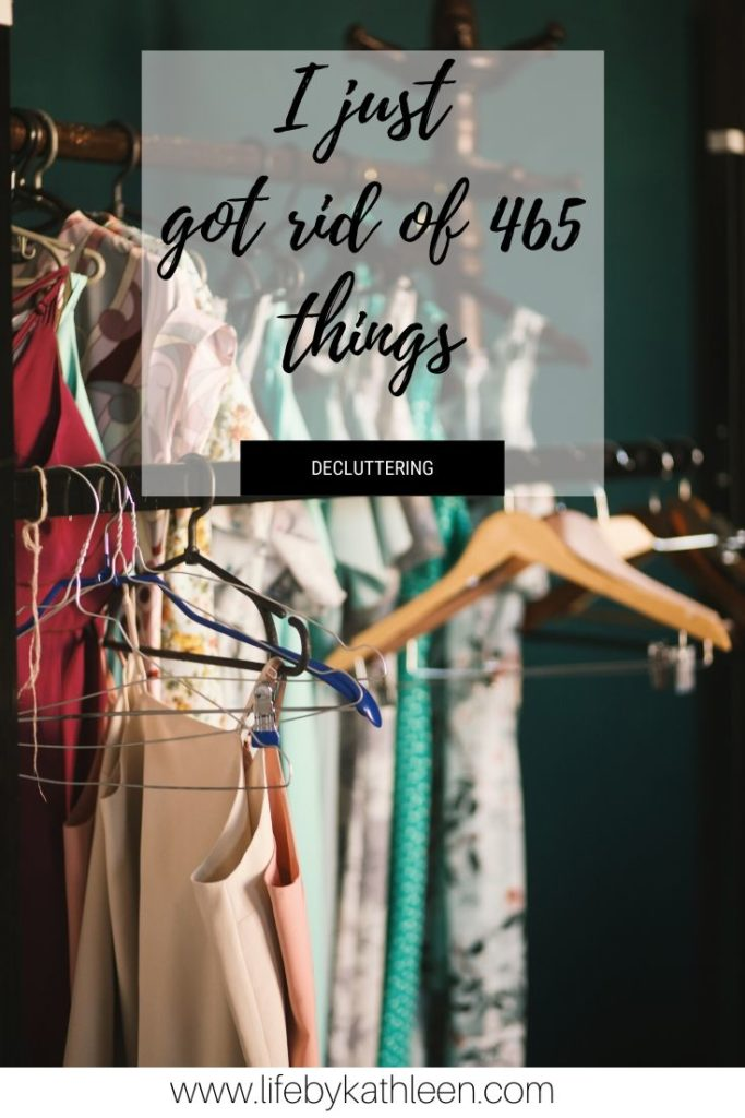 Decluttering 465 things in one month