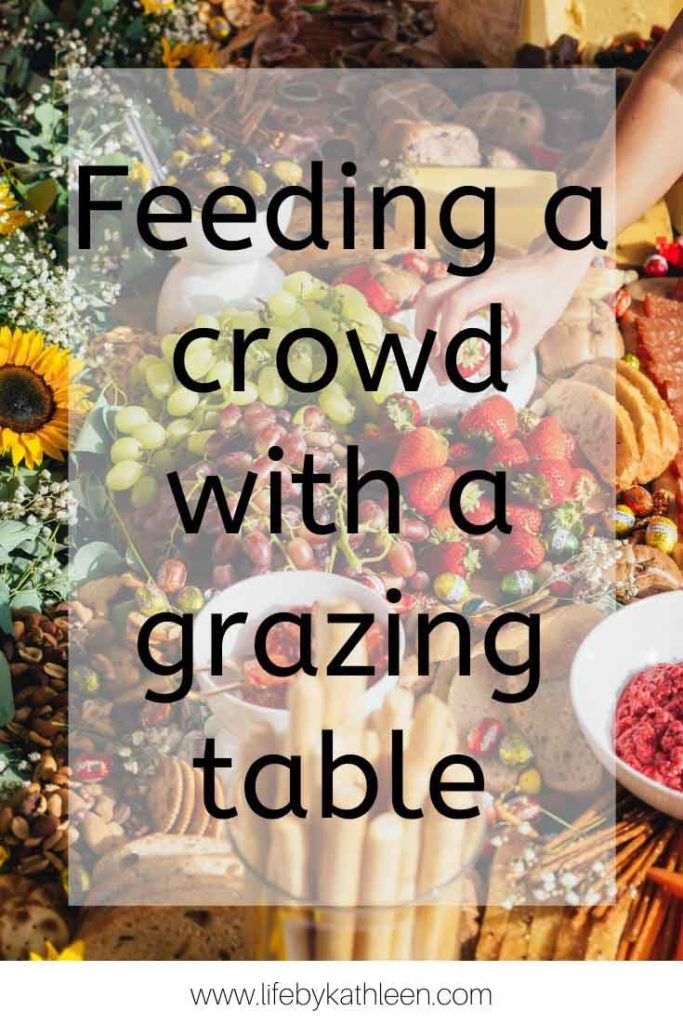 Feeding a crowd with a grazing table