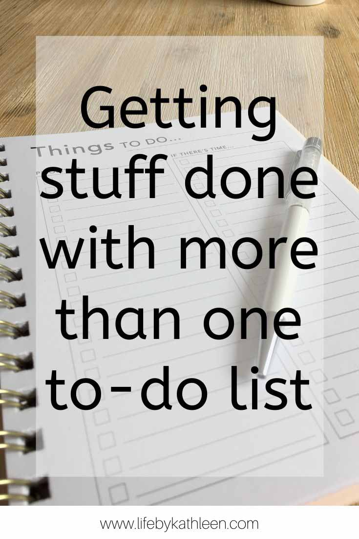 Getting Stuff Done with more than one to-do list