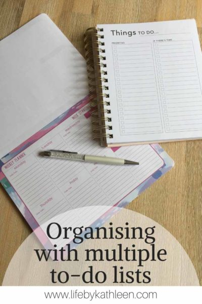 Organising with multiple to-do lists