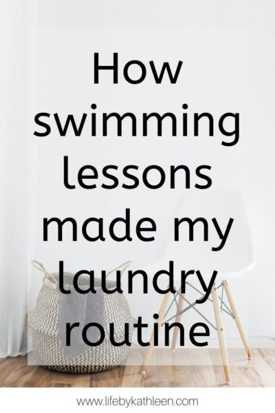 How swimming lessons made my laundry routine