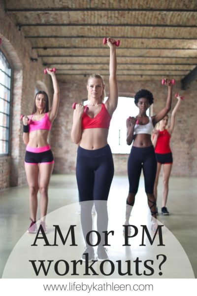 am or pm workouts