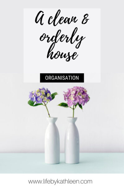 a clean and orderly house