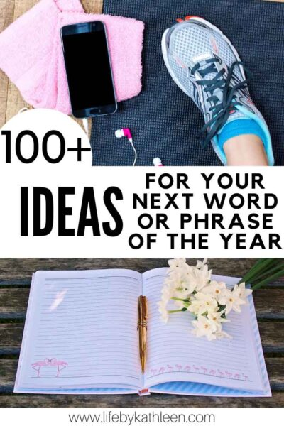 100+ ideas for your next word or phrase of hte year