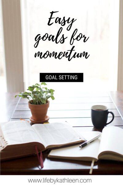 easy goals for momentum