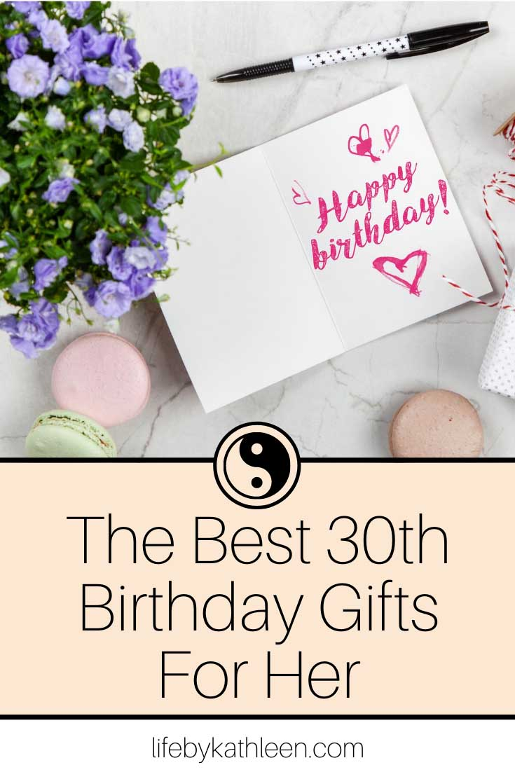 the best 30th birthday gifts for her
