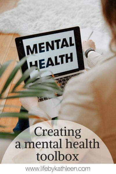 Creating a mental health toolbox