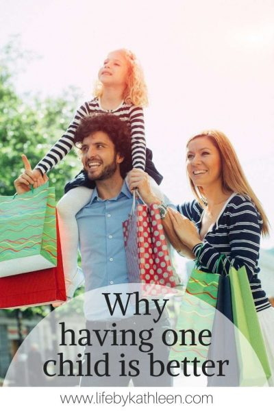 Why having one child is better